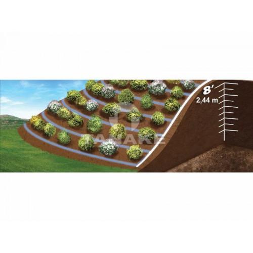 LINIA KROPLUJĄCA XFCV 16/2.3/33 cm brązowa 100 m Do układania w terenie zróżnicowanym wysokościowo.